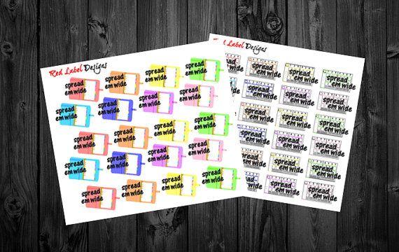 Spread Em Wide Planner Addict Planner Stickers by RedLabelDesigns
