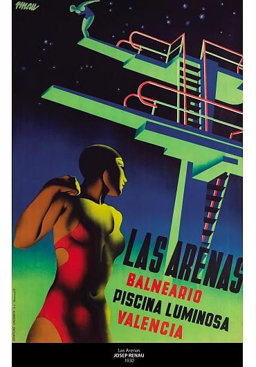 """El Museo Franz Mayer presenta la muestra  El Museo Franz Mayer presenta la muestra """"300 Spanish Design"""" conformada por 100 sillas, 100 lámparas y 100 carteles. En la imagen: LAS ARENAS, de Josep Renau, 1930"""