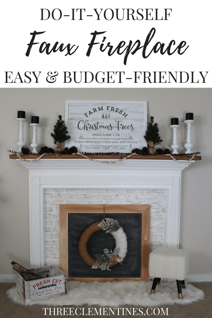 Mantel for a diy faux fireplace project remodeling on a budget in