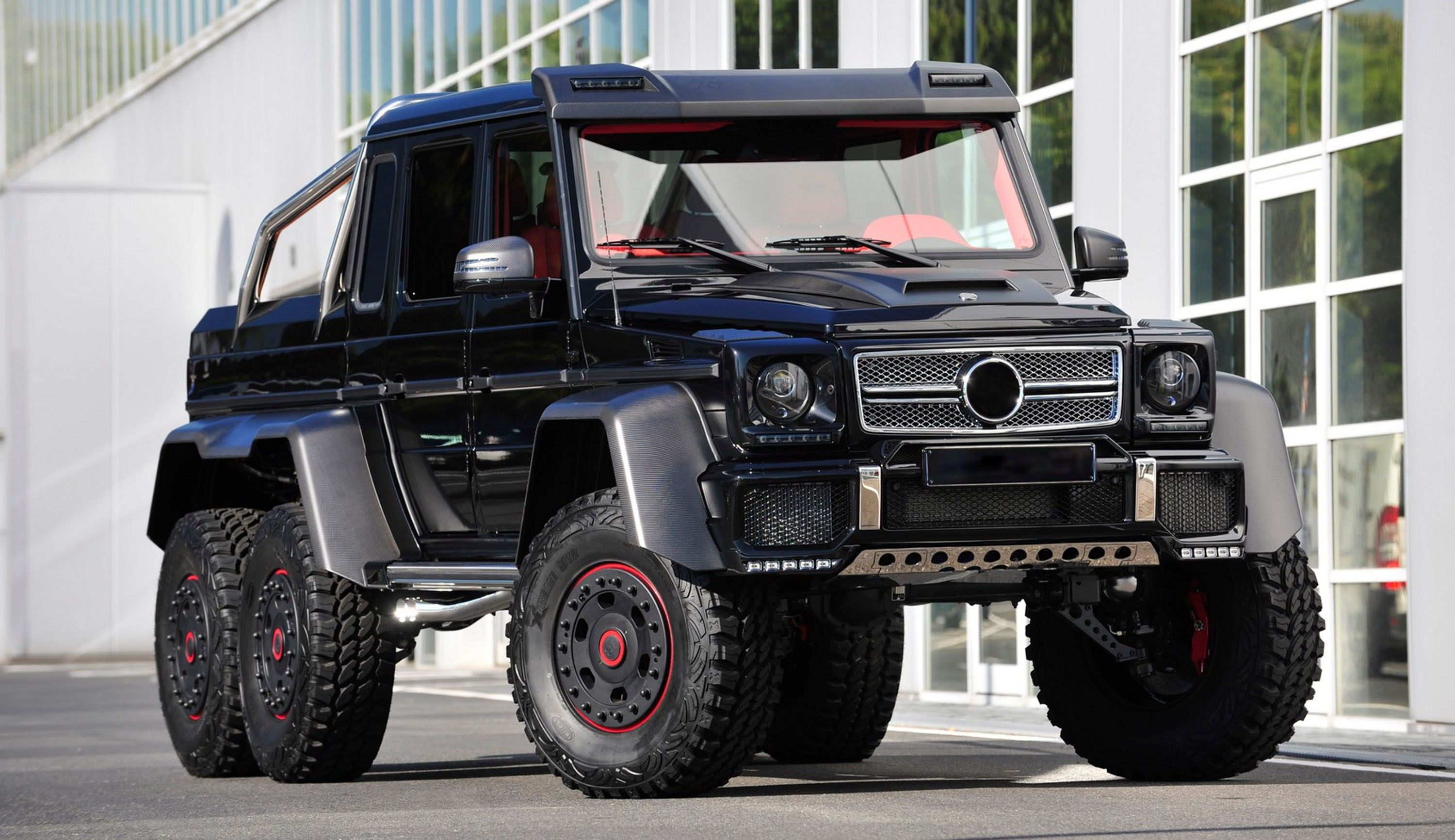 Armored Mercedes G63 Amg 6x6 With Images Mercedes Brabus