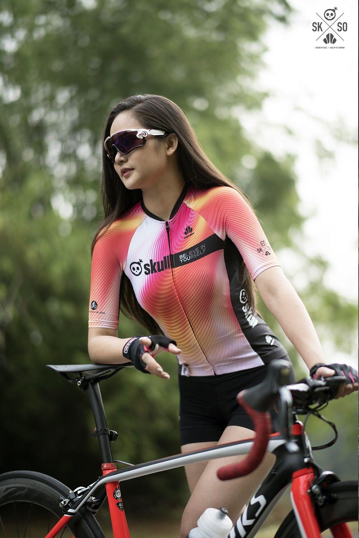 Skull Woman Cycling Jersey Bike Women Cycling Female Cyclist
