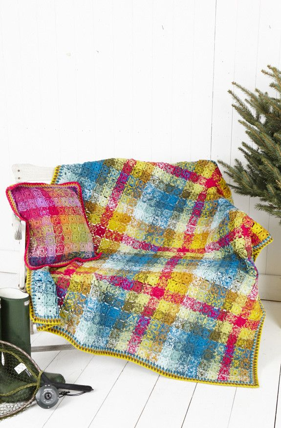 Crochet Blanket and Cushion Cover in Stylecraft Special DK (9255) – Deramores