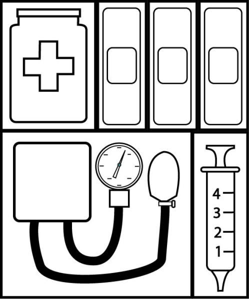 Free Coloring Pages About First Aid: Use To Make Bible Verse First Aid Kit For Combating The