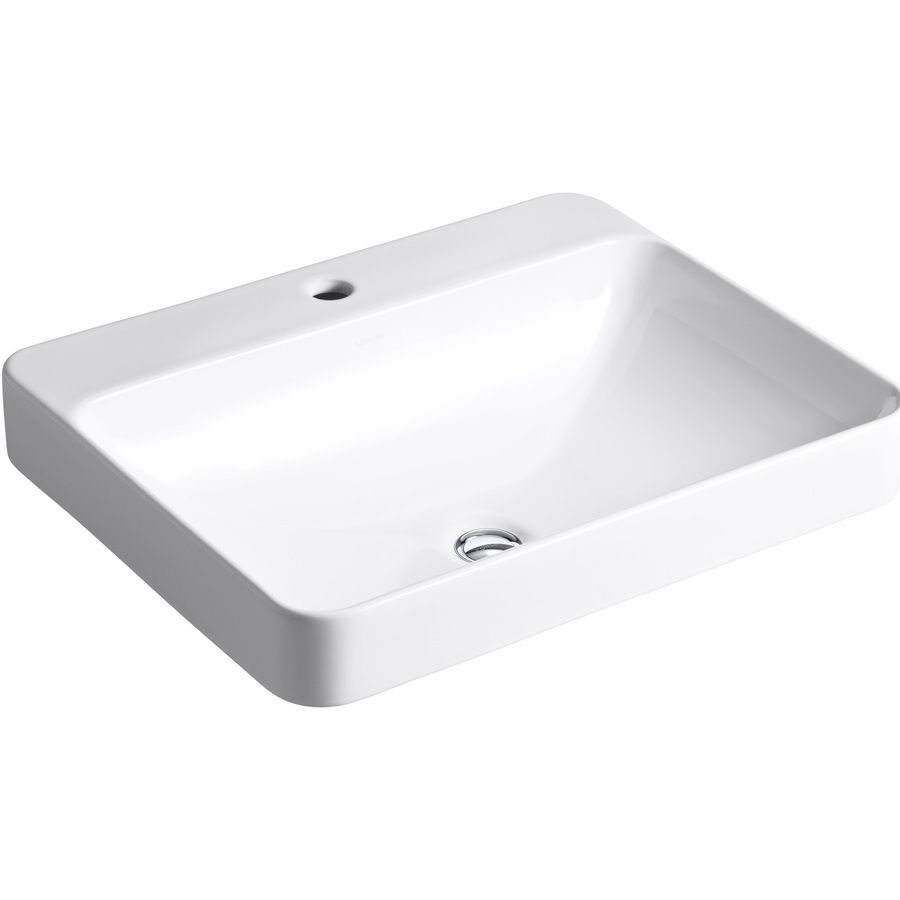 Awesome Shop KOHLER Vox White Vessel Rectangular Bathroom Sink With Overflow (Drain  Included) At Lowes