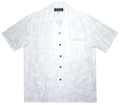 palm resort white hawaiian island rayon aloha shirt | Books Worth ...