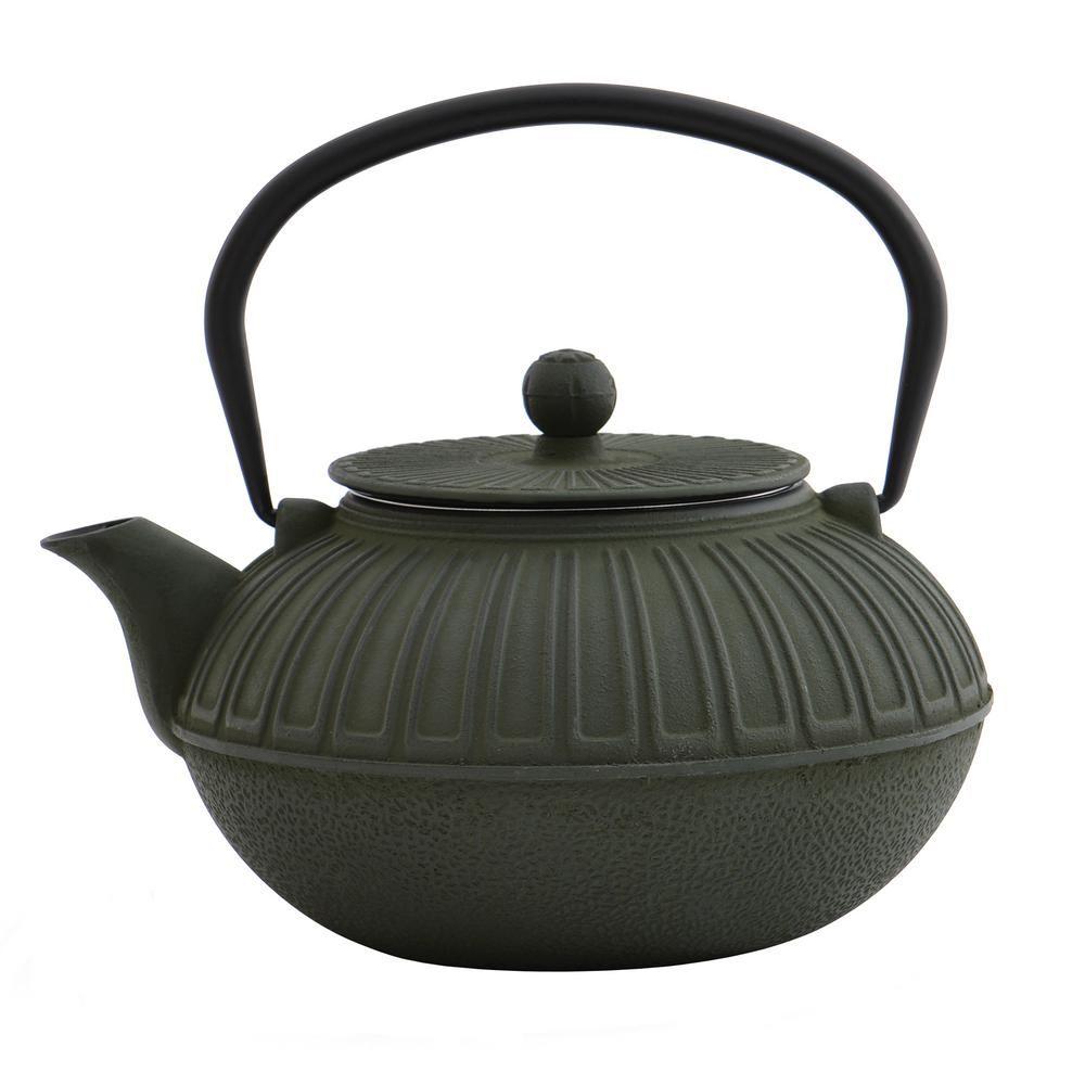 BergHOFF 6.4Cup Cast Iron Dark Green Teapot 1107120 Tea