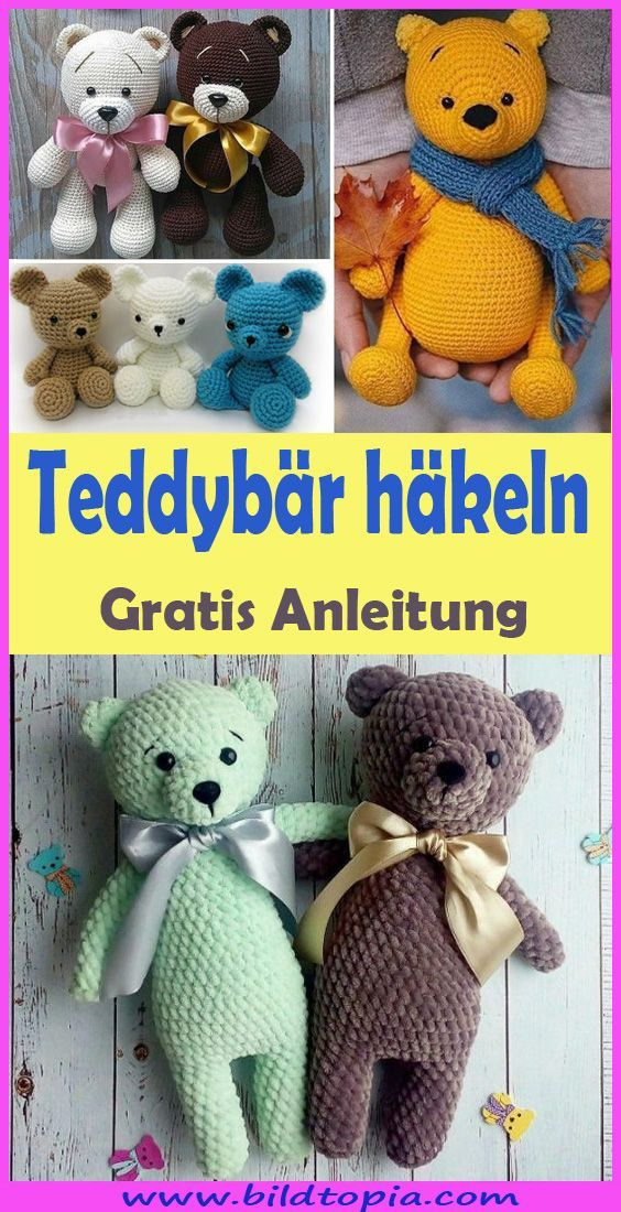 Photo of Häkeln Sie Amigurumi Teddybär – Free & Easy Instructions   – Häkeln – Anleitu…