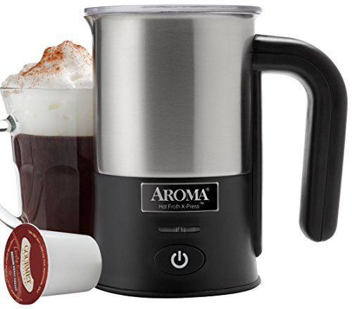 Aroma Housewares Afr180 Aroma Hot Froth Xpress Milk Frother Stainless Steel Be Sure To Check Out This Awesome Product It Is Ama Milk Frother Frother Aroma