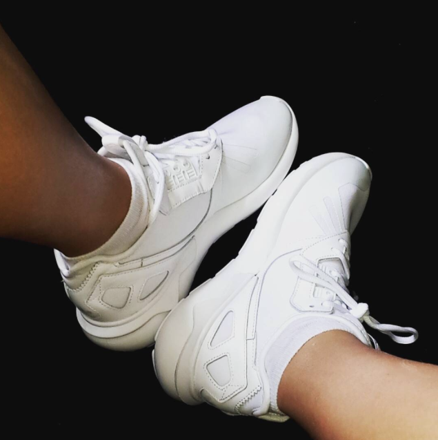 more photos 55bc7 62151 Maison with the adidas Originals Womens Tubular Runner Trainer in white