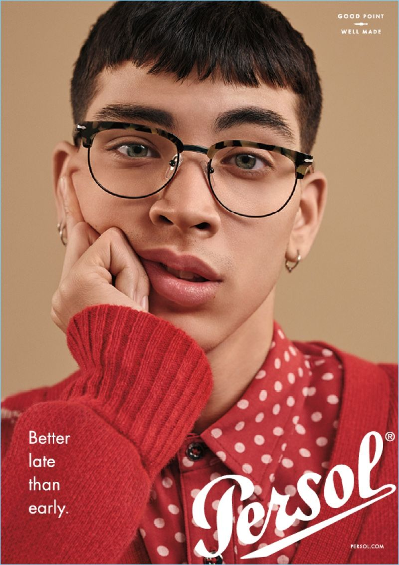 283383cca61 Louie Vasquez is a smart vision for Persol s eyewear campaign.