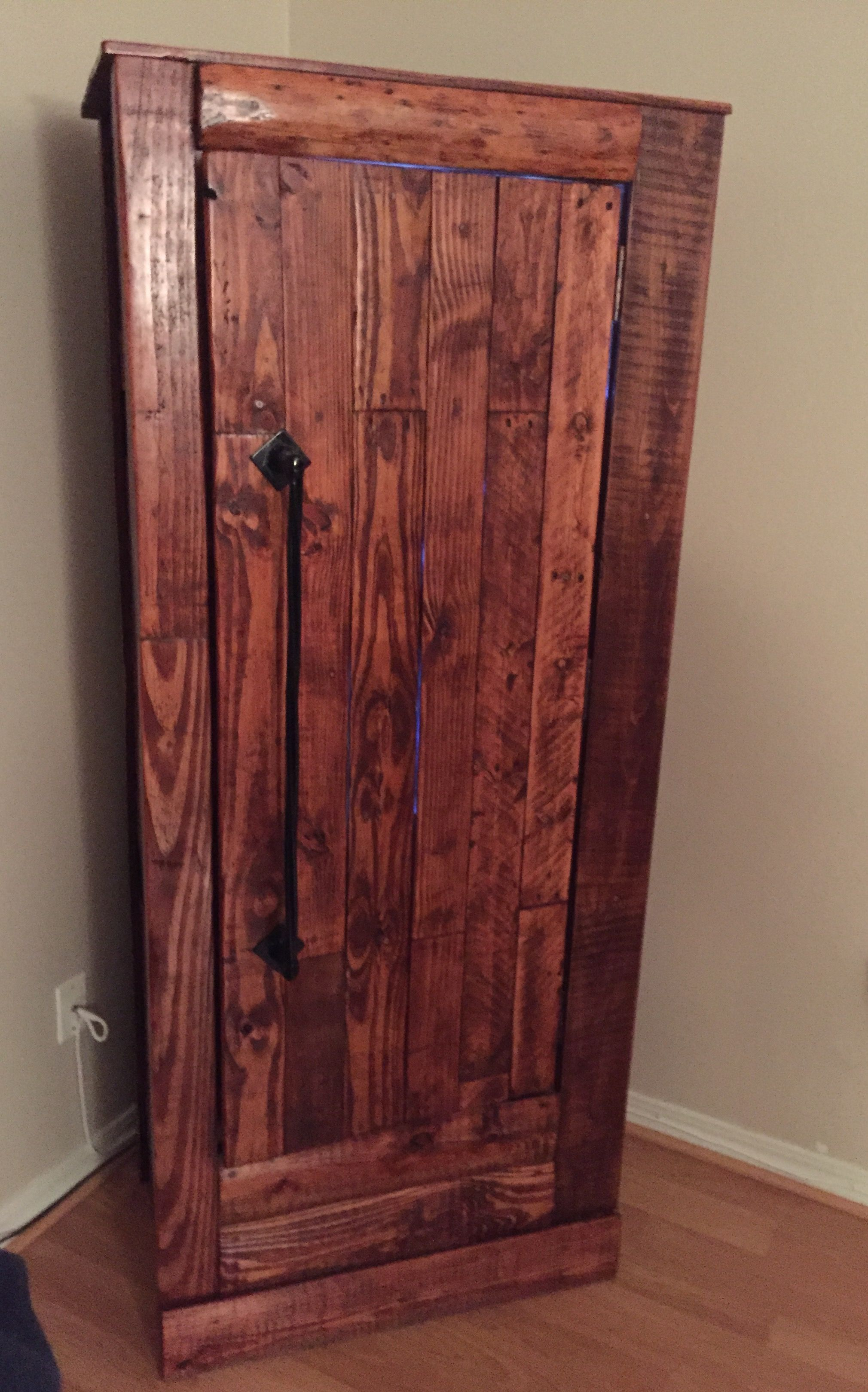 Stock On Gun Cabinet Custom Gun Cabinet Build From Pallet Wood Pallet And Wood Slab