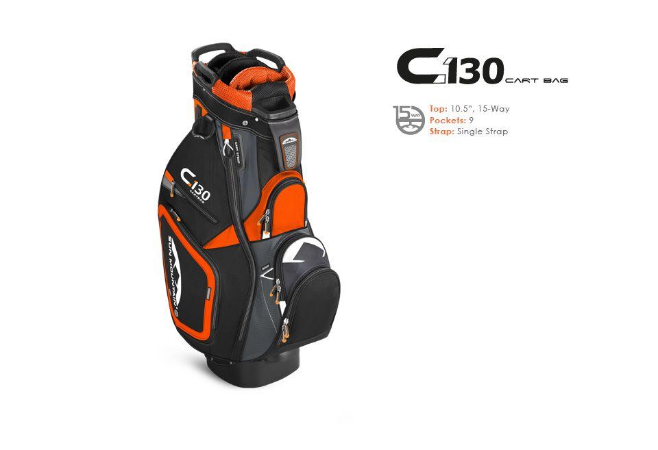 Sun Mountain Men S C 130 Cart Bag In Orange Blk Shdw 200 Via Golfsmith Golf Bags Golf Bags For Sale Single Strap