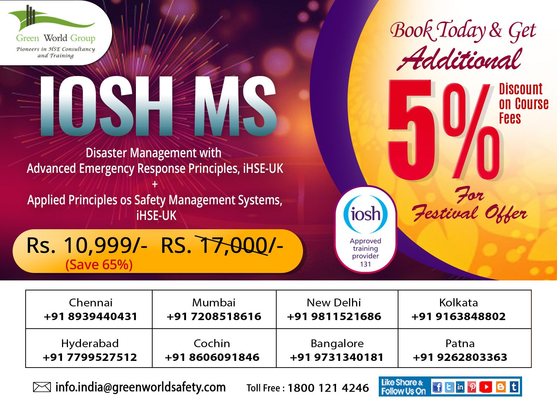 IOSH MS Course in Cochin Hyderabad Bangalore Kolkata