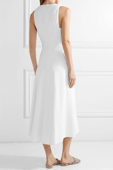 Discount Really Natural And Freely Stretch-cady Midi Dress - White Rosetta Getty NVn5MexMpD