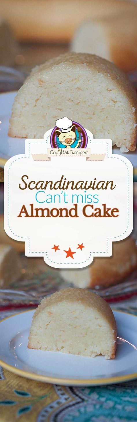 Scandinavian Almond Cake Recipe With Images Almond Cakes Almond Recipes Easy Bundt Cake Recipes