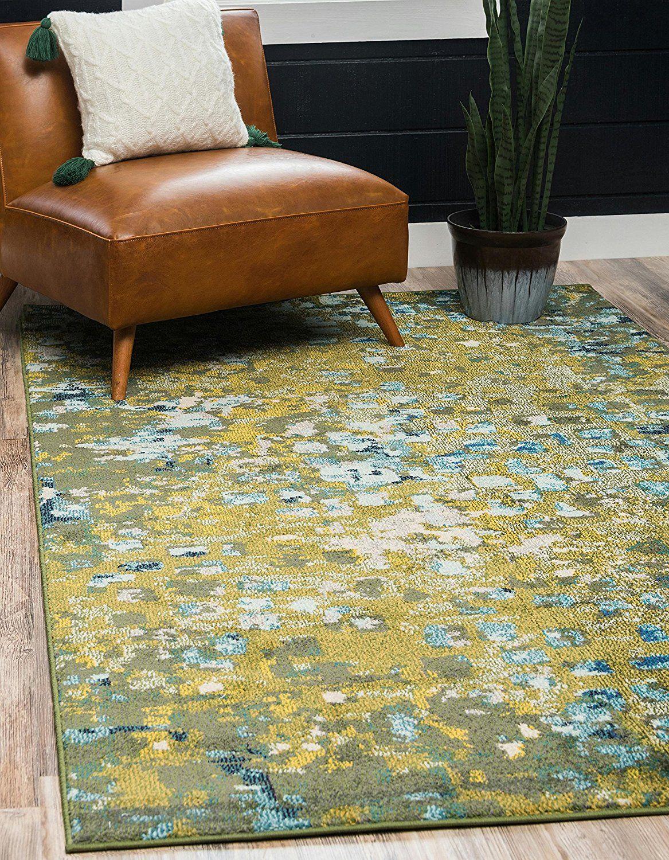 amazon com unique loom casablanca collection modern abstract green rh pinterest com 9 x 12 kitchen cutting board 9x12 kitchen