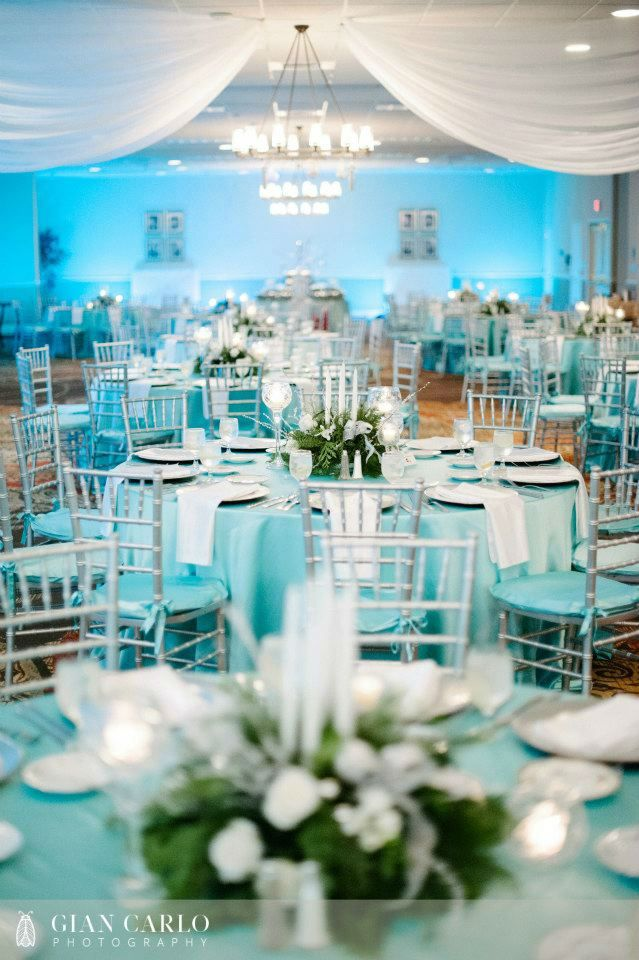 The Premier Silver Spring >> 41 Brilliant Blue and White Winter Wedding Ideas | Uplighting wedding, Tiffany blue weddings ...
