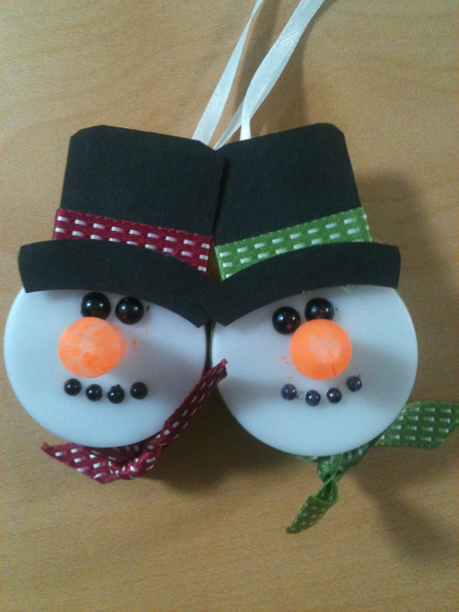 A Couple Of My Tea Light Snowman Ornaments Tea Light Snowman Tea Lights Christmas Tea Light Crafts