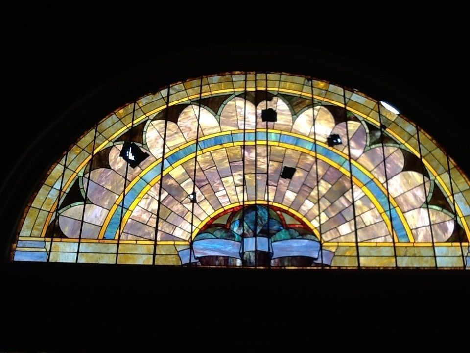 Stained Glass, Arched,