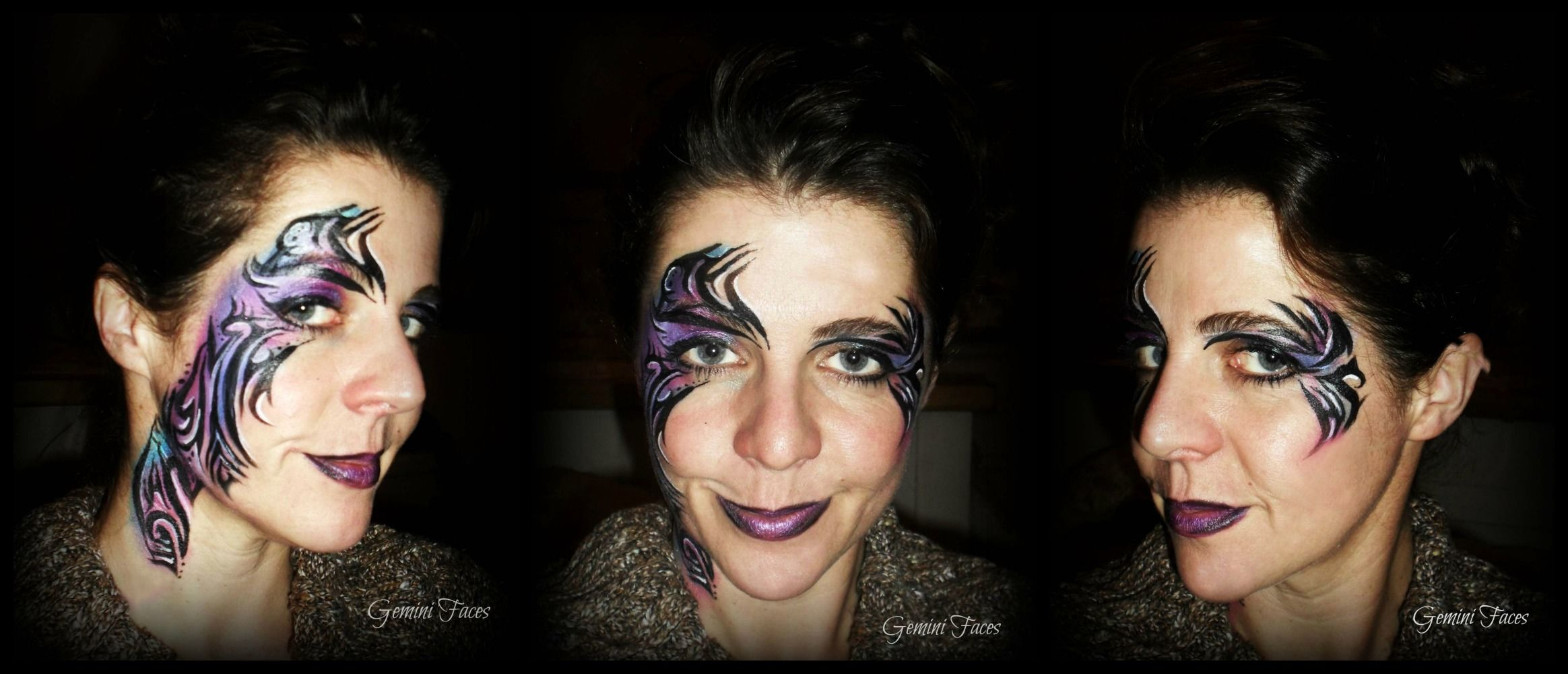 tribal design face painting