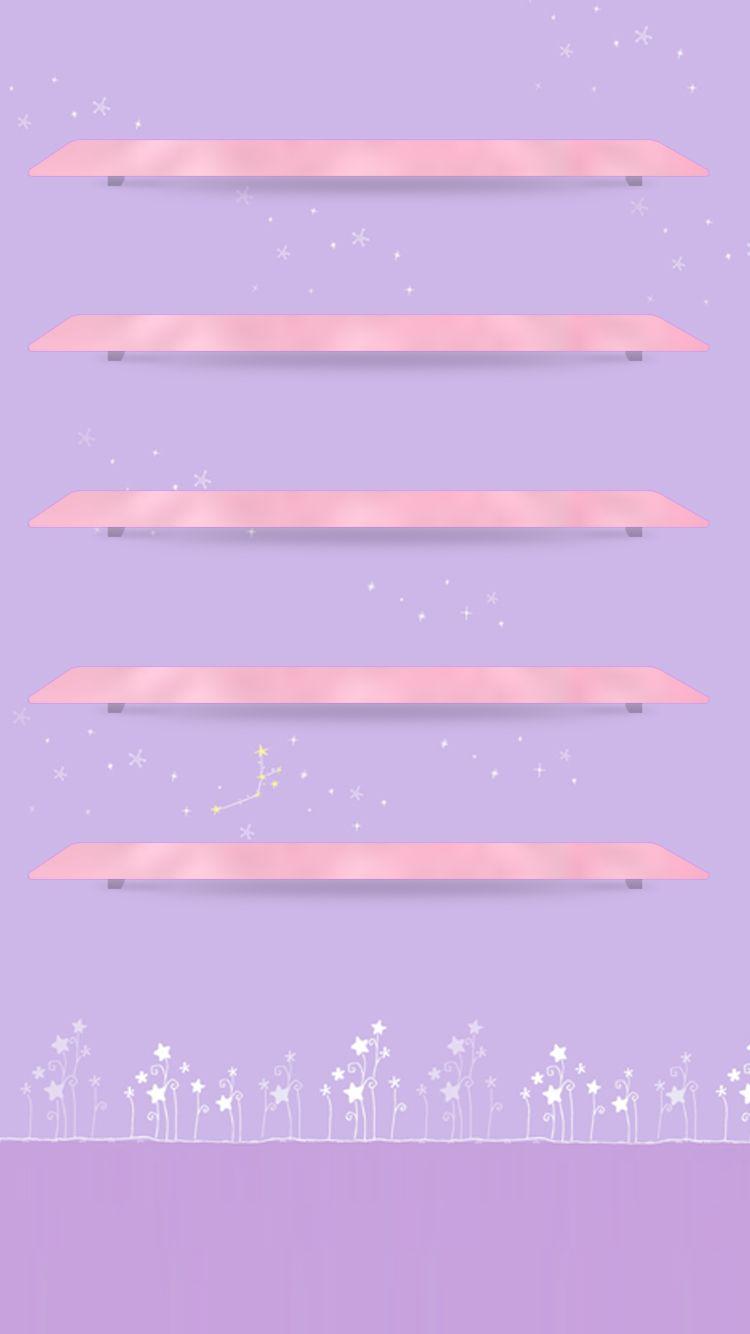 Tap And Get The Free App Shelves Cute Simple Girly Purple Light For Girls Pretty Hd Iphone Papeis De Parede Whatsapp Planos De Fundo Papel De Parede Disney