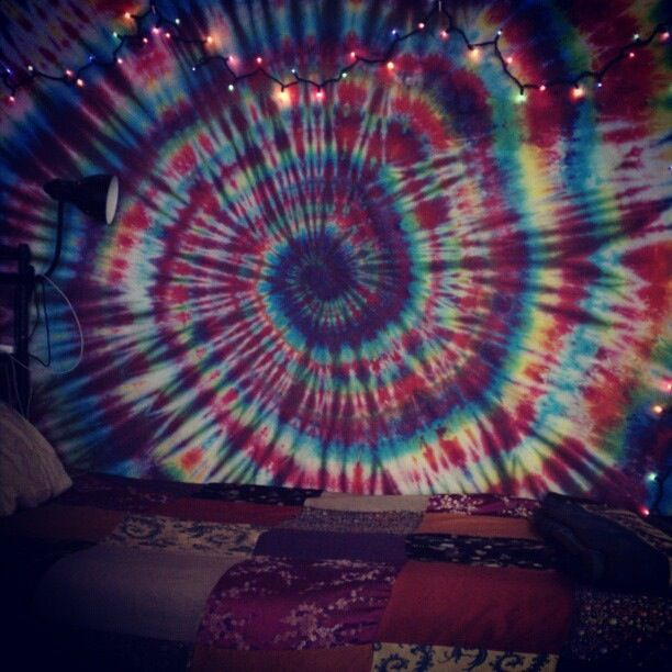 Dorm Room Tye Dye White Sheet Hippie Decor Diy