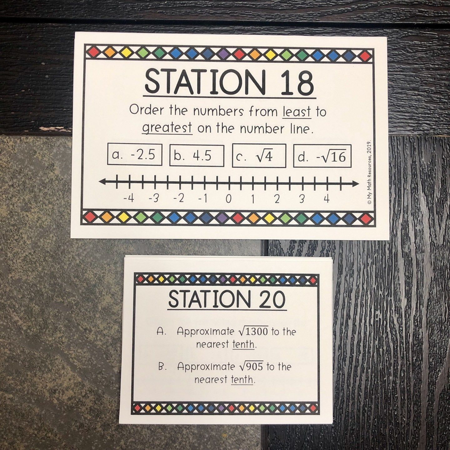 Irrational Amp Rational Numbers Task Cards