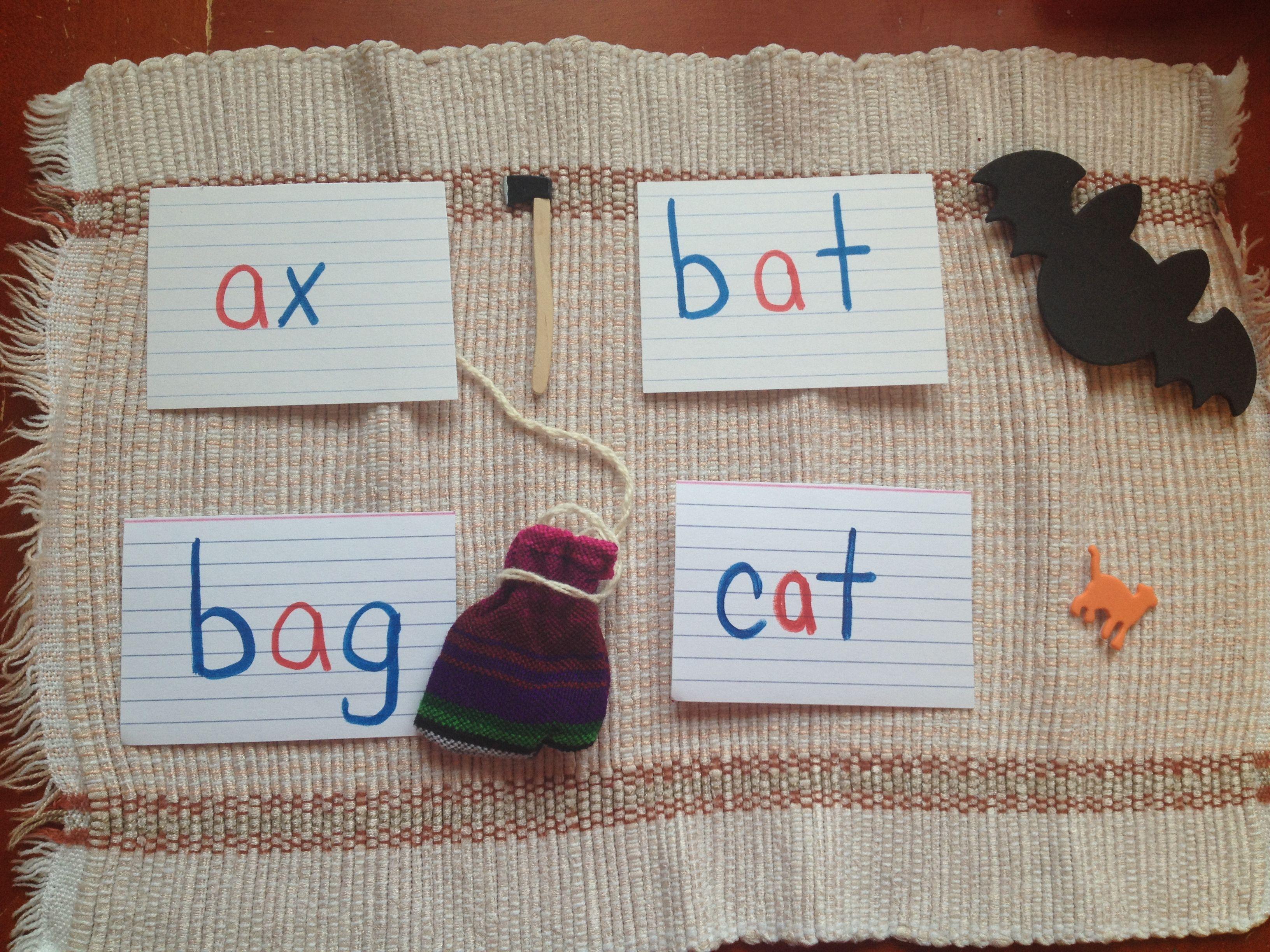Pink Boxes 13 Cvc Words Montessori Language