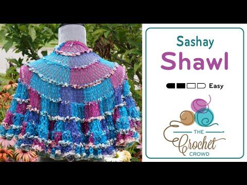 How to Crochet A Shawl: Sashay Shawl | AAB Textiles, Textile ...