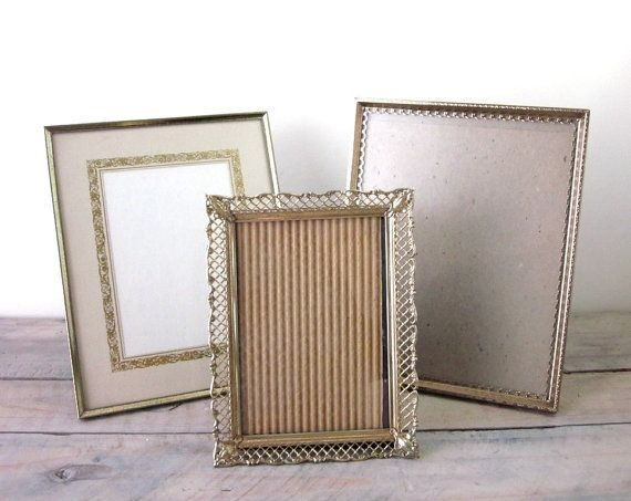 Brass and Gold Metal Picture Frames  Instant by 22BayRoad on Etsy, $18.00