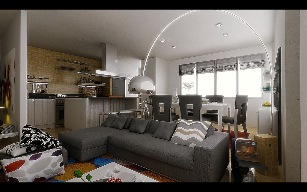 Studio Apartment Living inspirational deluxe living room gray tones studio apartment