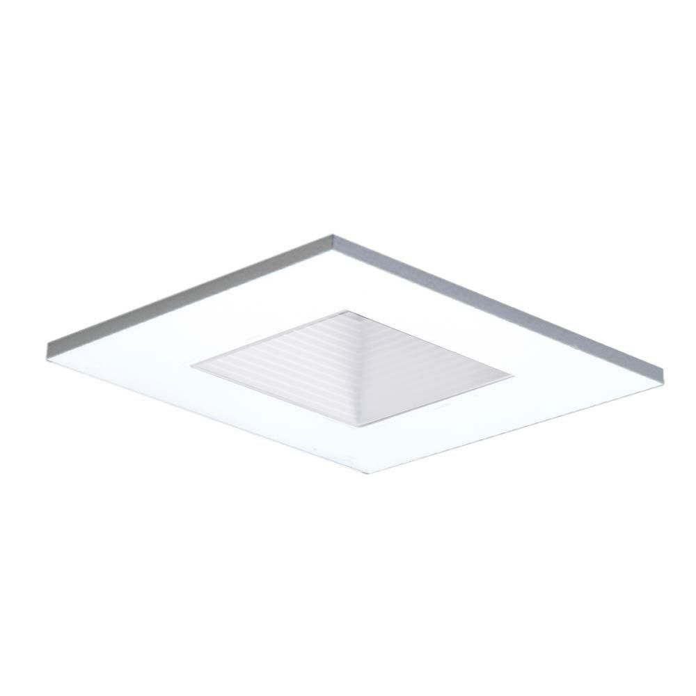 Halo 3 in. White Recessed Ceiling Light Square Shower Trim ...