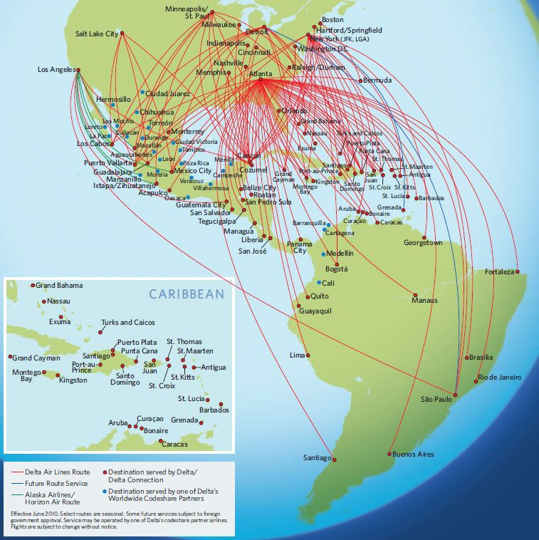 Delta Air Lines Route Map | Airlines of the world | Map, Aviation ...