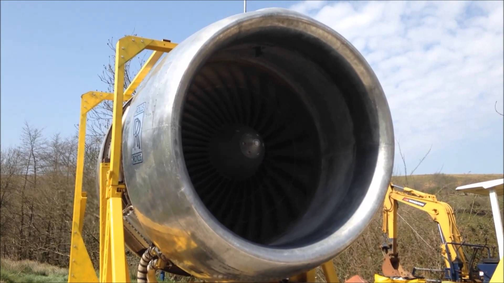 Rolls Royce RB211 Back Yard 747 Jet Engine Run Close Up and