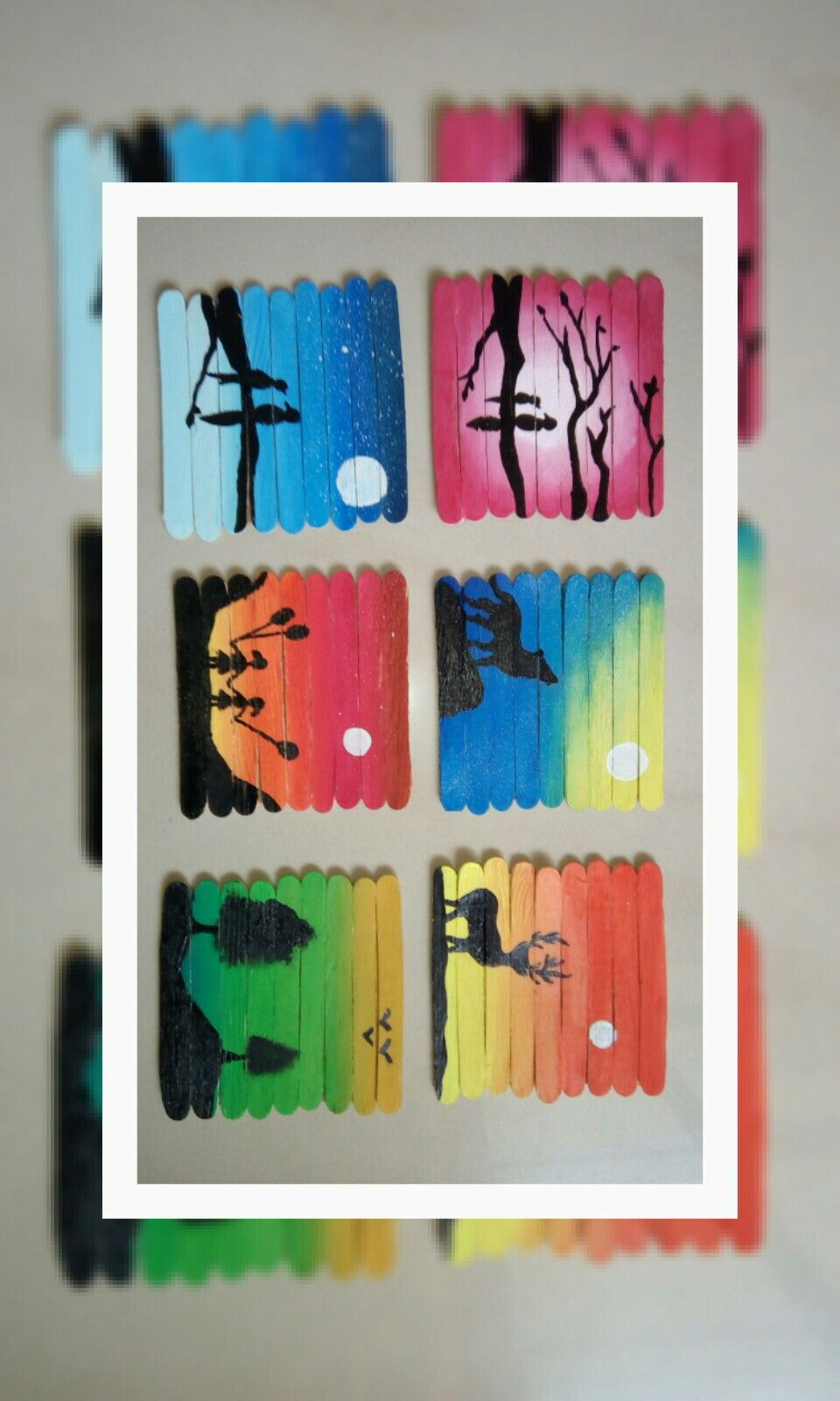 Photo of #Popsicle stick canvases… Popstuck art#cute diy#crafts