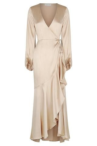 JOAN BIAS SLIP DRESS - GOLD -   17 dress Wrap crosses ideas