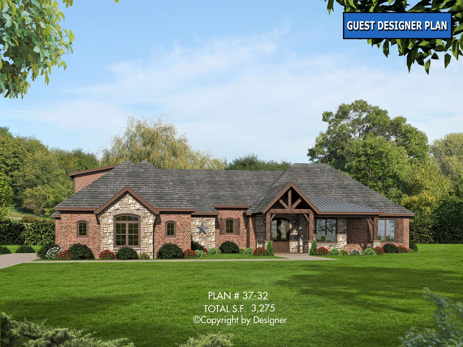 House Plan 37 32 Vtr Garrell Associates Inc Ranch House Plans Country Style House Plans Craftsman House Plans