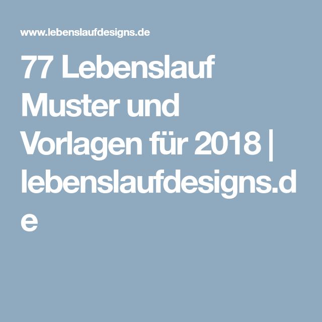 77 Lebenslauf Muster Und Vorlagen Für 2018 Lebenslaufdesignsde