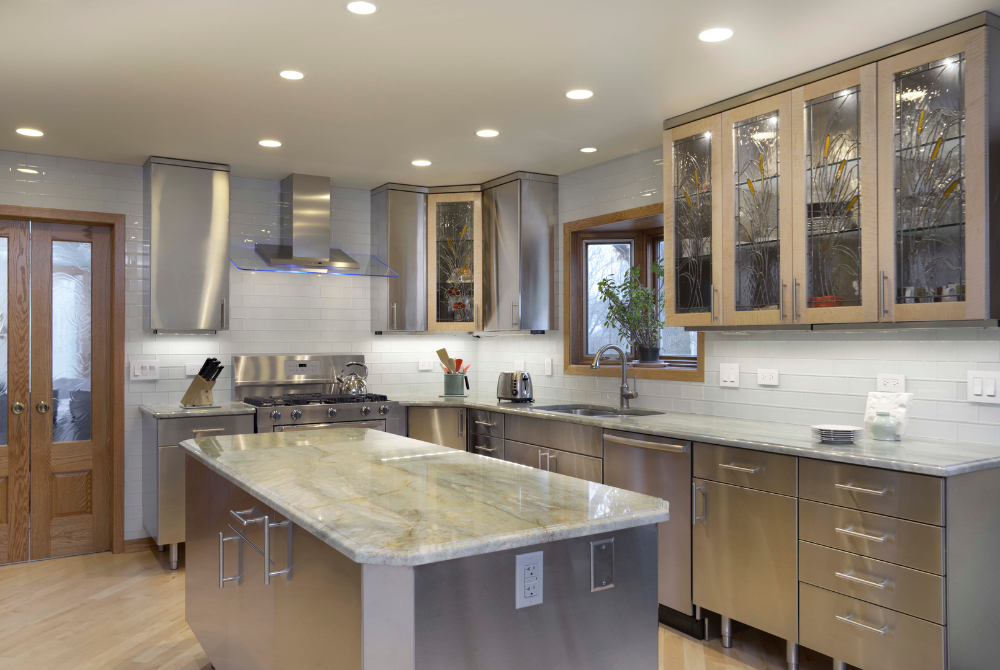 Stainless Steel Kitchen Cabinets ... in 2020 | Metal ...