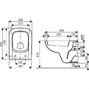 r sultat de recherche d 39 images pour cuvette wc suspendu 45 cm profondeur toilettes. Black Bedroom Furniture Sets. Home Design Ideas