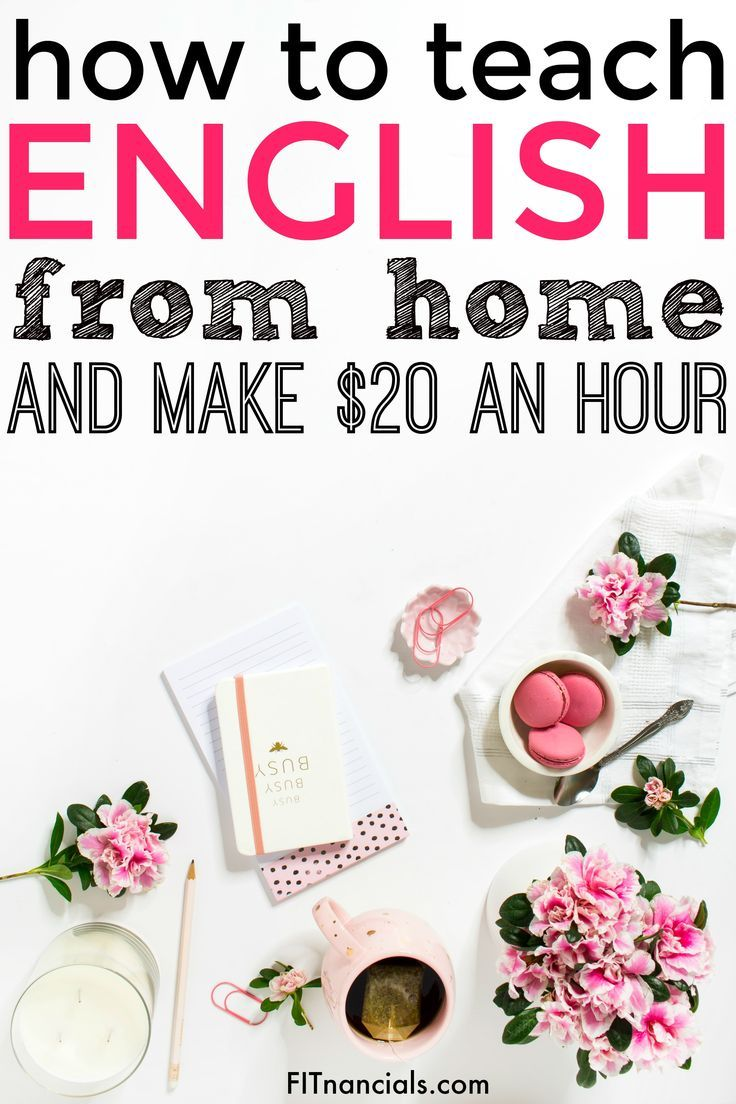 How To Teach English From Home And Make $20 An Hour | English ...