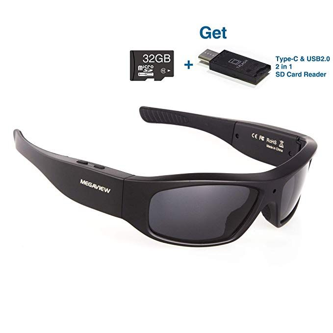 Wearable Camera Glasses 32GB Video Sunglasses HD 720P