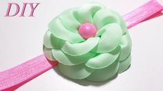 How To Make Hair Bows DIY #97 Grosgrain Ribbon Flower Tutorial