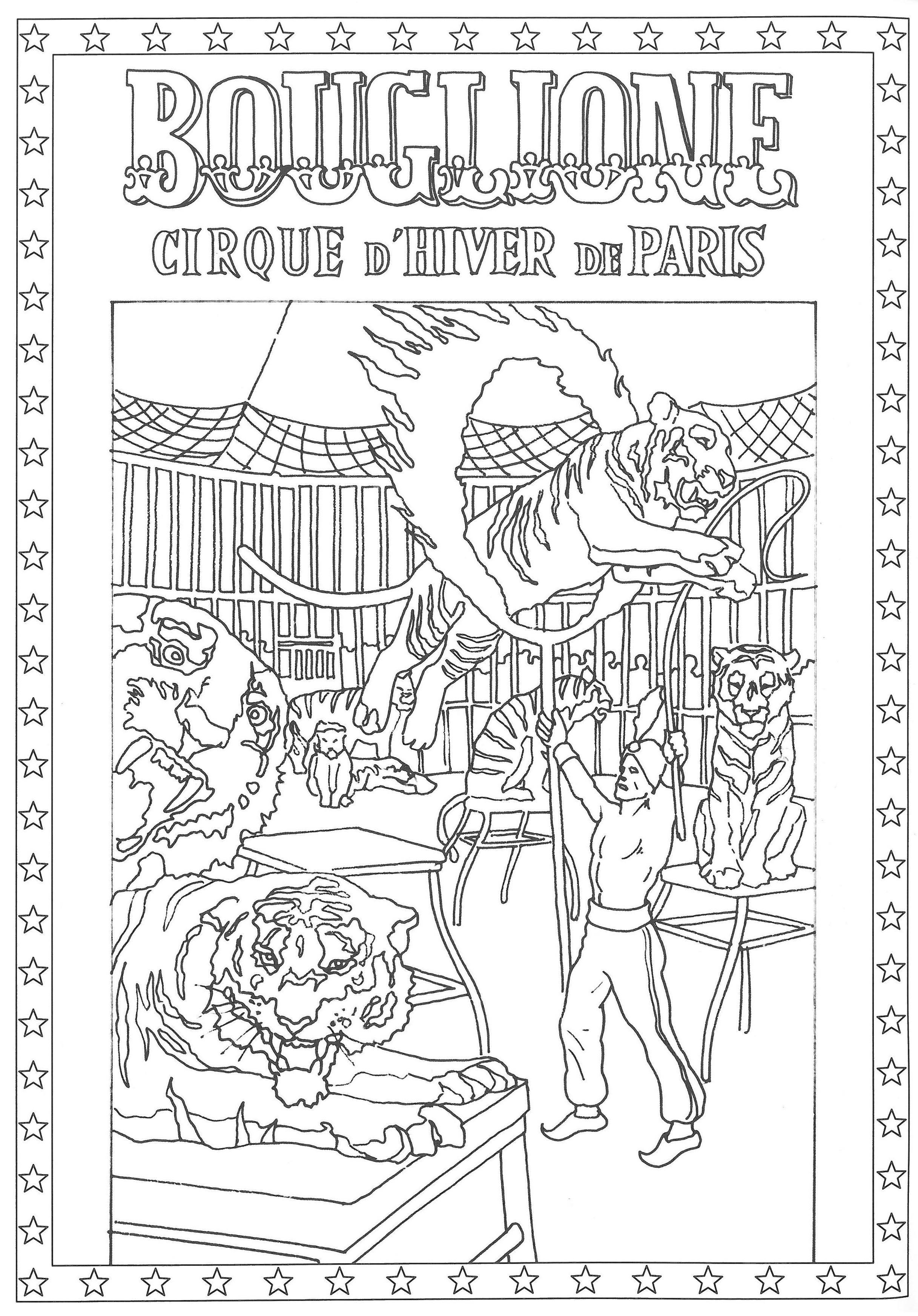 Coloriage Piste Cirque.Epingle Par Cirque D Hiver Bouglione Sur Les Coloriages Du