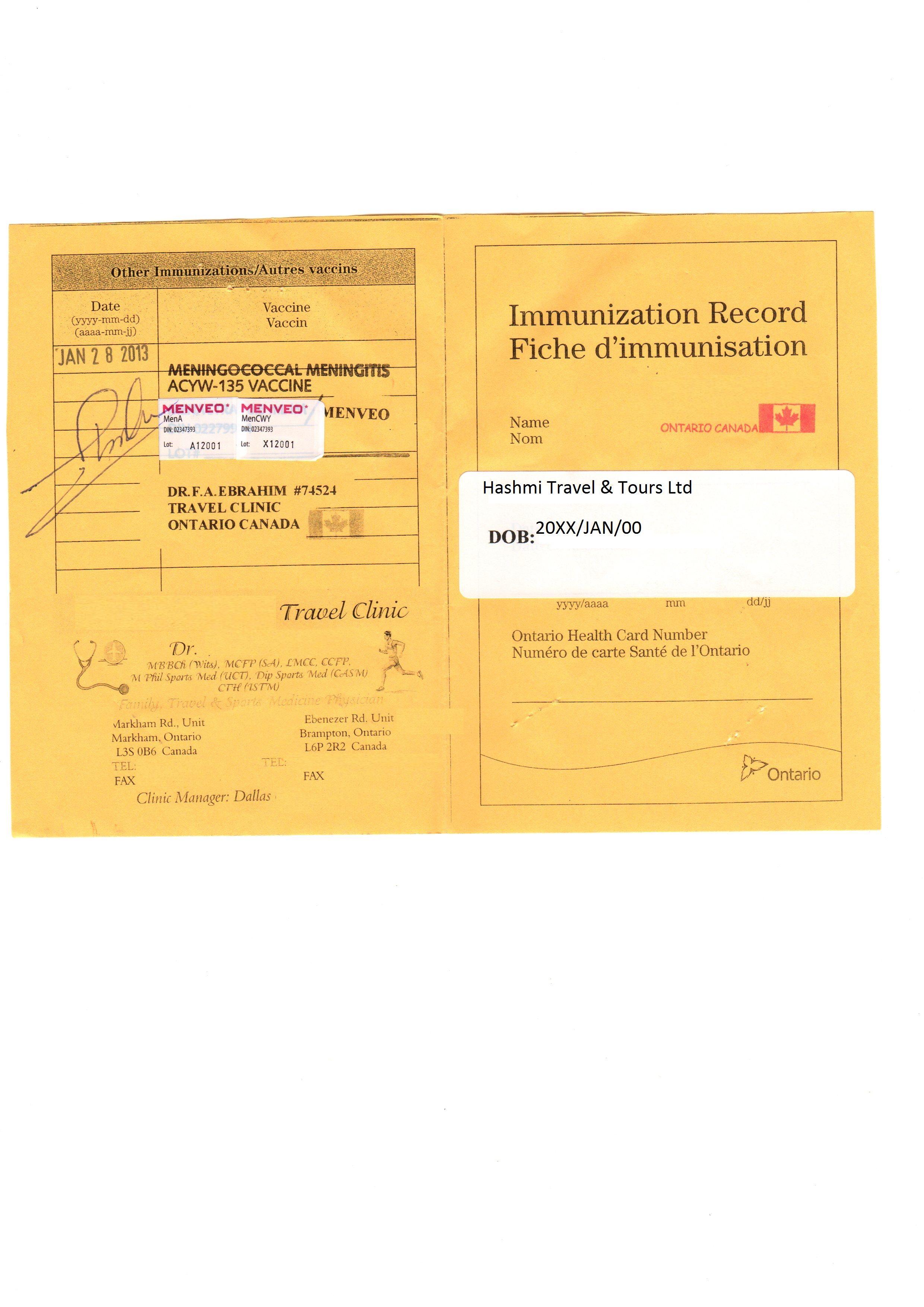 Forms Hashmi Travel Tours Ltd Credit Card Authorization Form