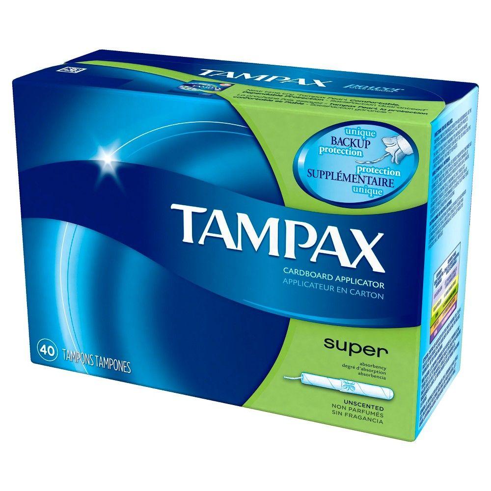 Tampax Anti Slip Grip Cardboard Applicator Super Absorbency Tampons 40 Count Tampax Tampons Tampax Pearl