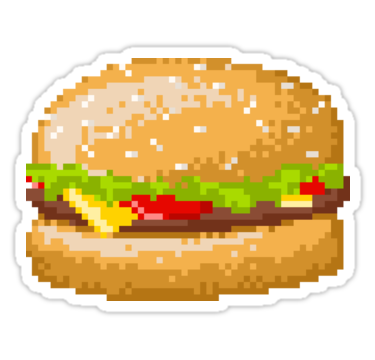 Beef, tomato, lettuce, and cheese on a sesame seed bun! • Also buy this artwork on stickers, apparel, phone cases, and more.