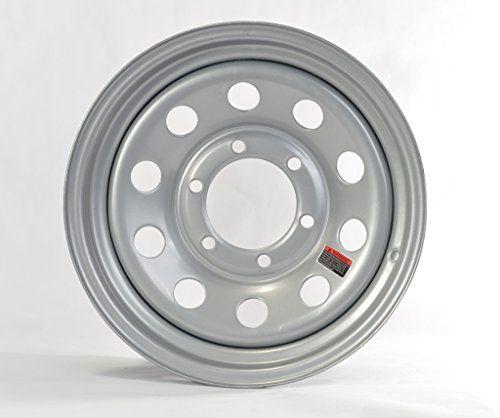 Silver Modular Design Trailer Rim 15 15 X 6 15x6 6 Lug Hole Bolt Wheel Rim Construction Steel Wheel Bolt Pattern 6 Lug On 5 Bolt Pattern Rim Car Wheels