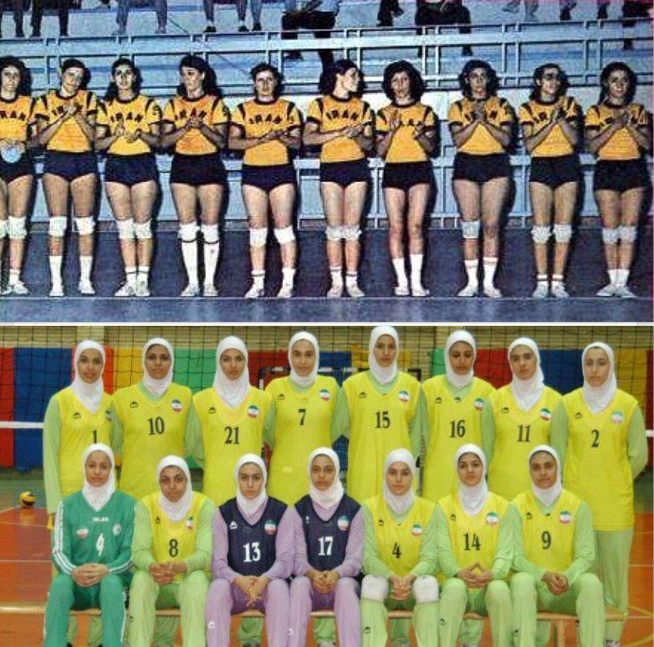 تيم واليبال ايران در دهه ٥٠ و در دهه ٩٠ Women Volleyball Volleyball Team Women