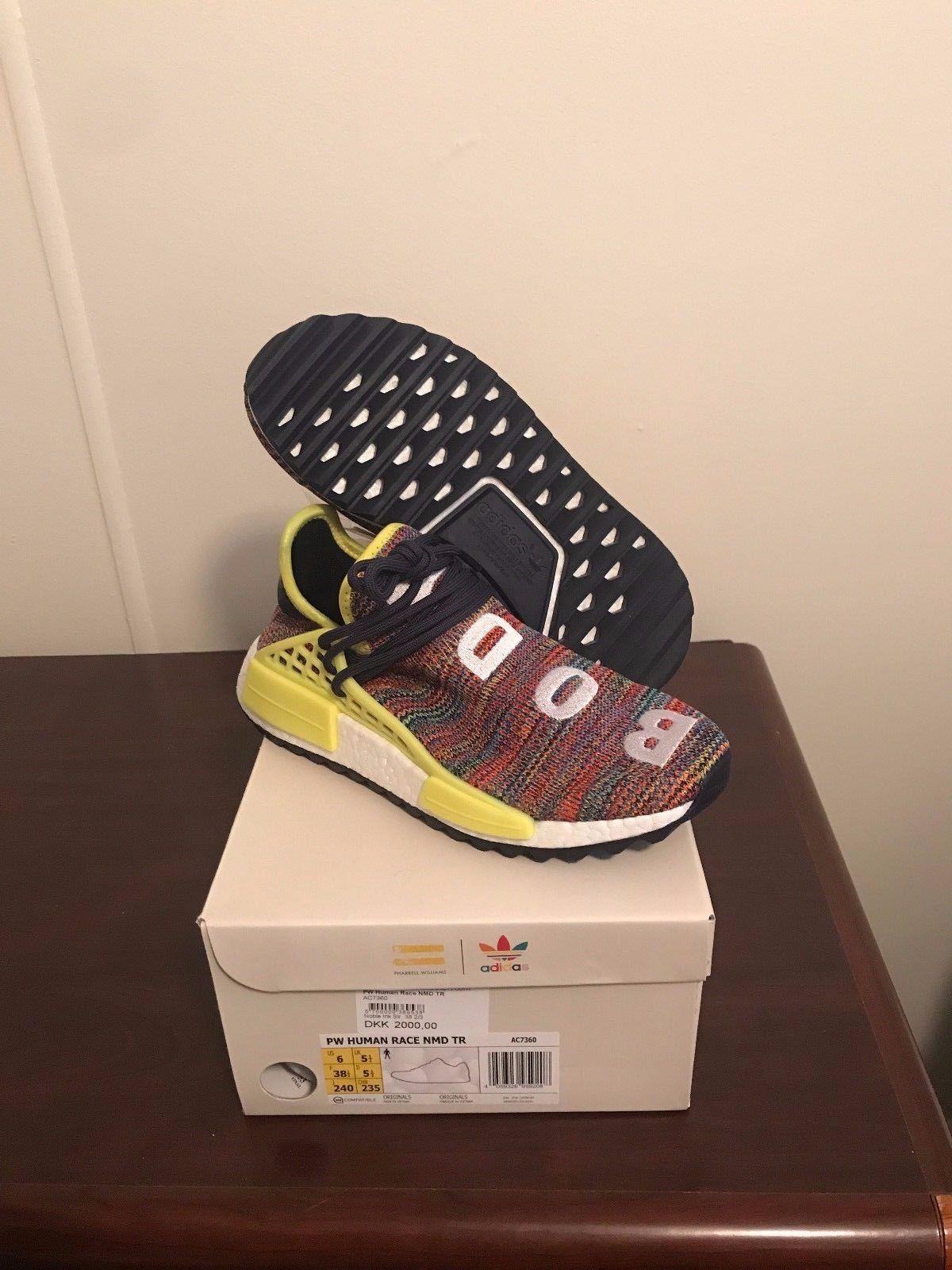 b870133a4606 Pharrell x Adidas NMD Human Race HU Trail   AC7360   Multi Color   Size 6